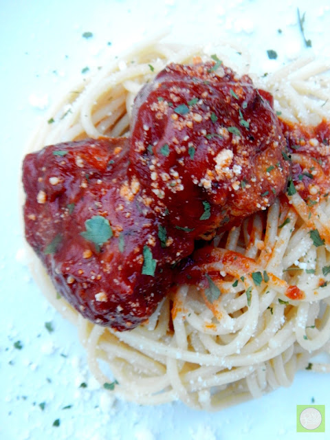 chicken parmesan meatballs (sweetandsavoryfood.com)