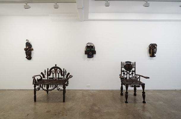Goncalo Mabunda - The Messenger - Jack Bell Gallery - April 2018 - Installation View