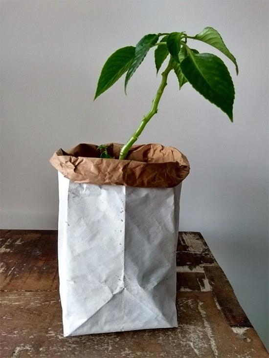 sacola de papel, paper bag, papel kraft, sacola kraft, diy, faça você mesmo, organizador, a casa eh sua, decor