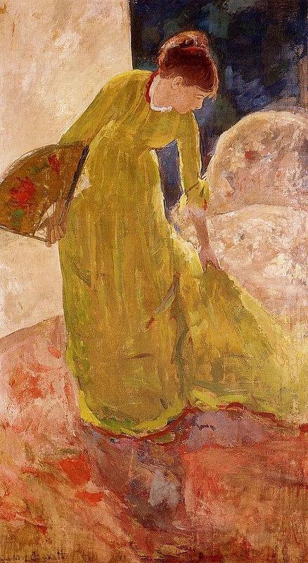 Mary Cassatt - Стоящая женщина с веером