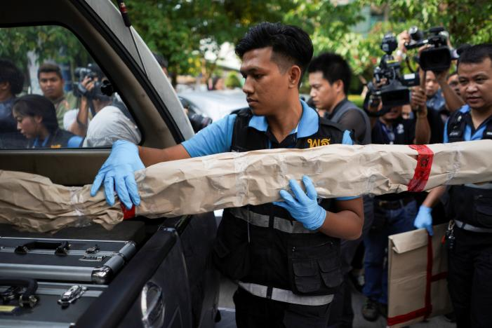 Bangkok Hospital Bomb Explosion injured 24 persons