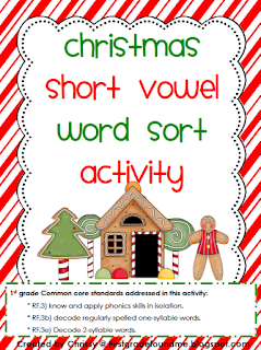 https://www.teacherspayteachers.com/Product/Christmas-Short-Vowel-Word-Sort-Activity-1003382