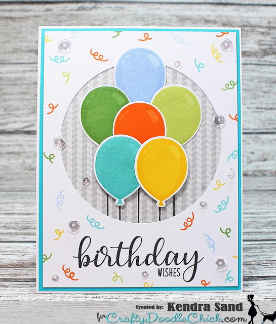 Sunny Studio Stamps: Birthday Balloons Customer Card Share by Kendra Sand
