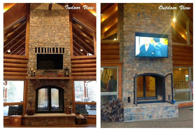 Indoor Outdoor Fireplace Double Sided - Native Home Garden ...