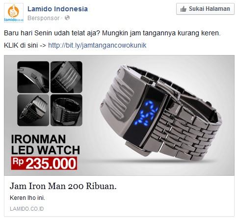 contoh desain iklan di facebook yang bisa dicoba