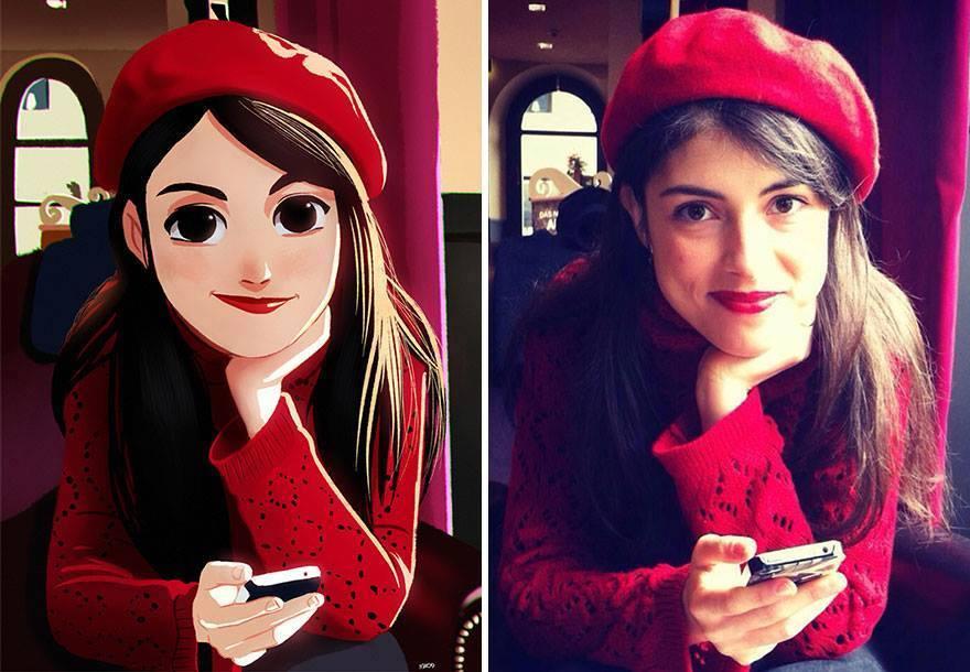 fotos transformadas em caricatura 03 - Pessoas transformadas em Caricaturas
