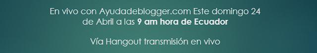 En vivo Ayuda de Blogger