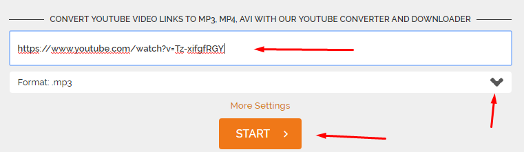 Convert Any HD Video youtube link