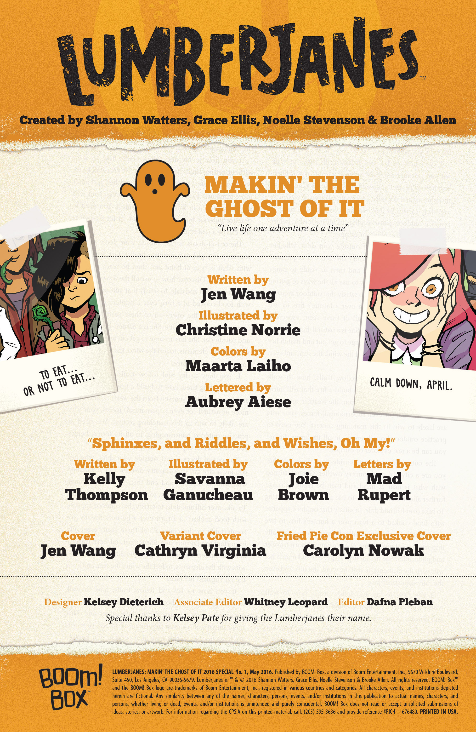 Read online Lumberjanes: Makin' the Ghost of It 2016 Special comic -  Issue # Full - 2