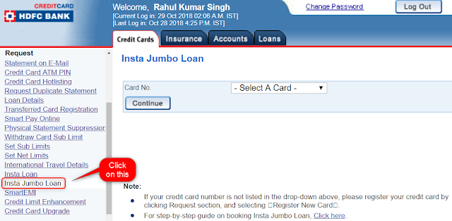 Insta Jumbo loan HDFC