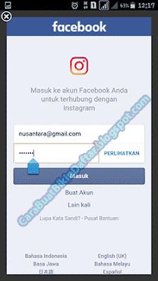 Cara Masuk Instagram Lewat Facebook - Masuk Instagram Melalui FB