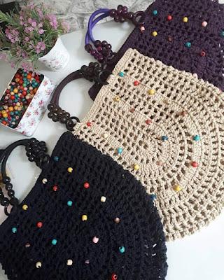 Resultado de imagen para bolsa en punto calado crochet