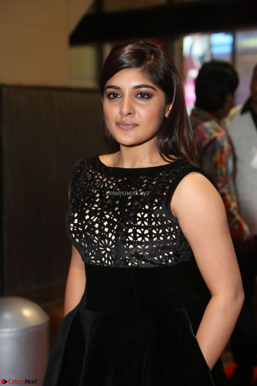 Niveda Thomas Black Sleeveless Cute Dress at 64th Jio Filmfare Awards South - 17th Jun 2017~ CelebsNext Exclusive