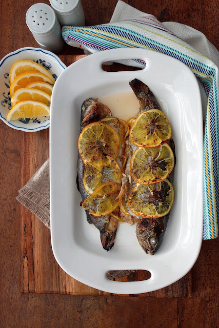 Baked Whole Rainbow Trout with Shallots, Herbs, and Jalapeño