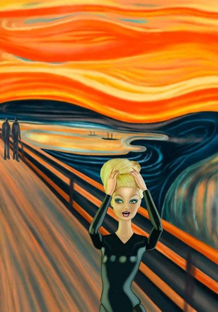 El grito de Munch - Versión Barbie