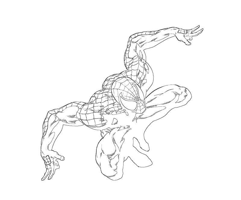 marvel ultimate spiderman coloring pages   Ultimate Spider Man Coloring Pages