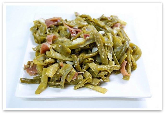 Cocinerando jud as verdes salteadas con jam n - Como preparar las judias verdes ...