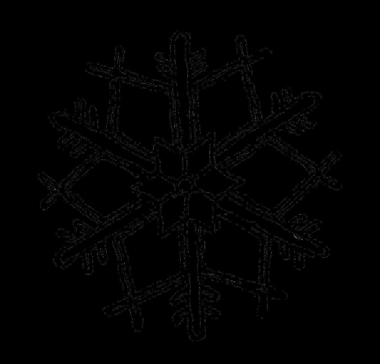 Digital Stamp Design Snowflake Digital Illustration Stock