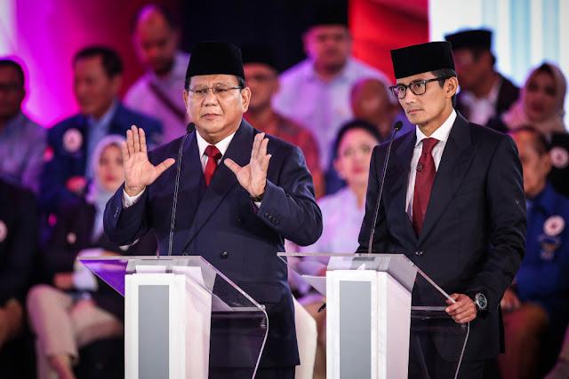 Jelang Pencoblosan, Survei INES Unggulkan Prabowo-Sandi 52 Persen