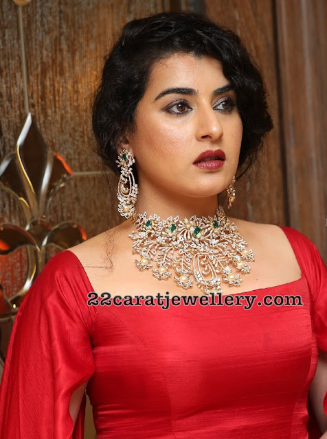 Archana Shastri in Heavy Diamond Choker