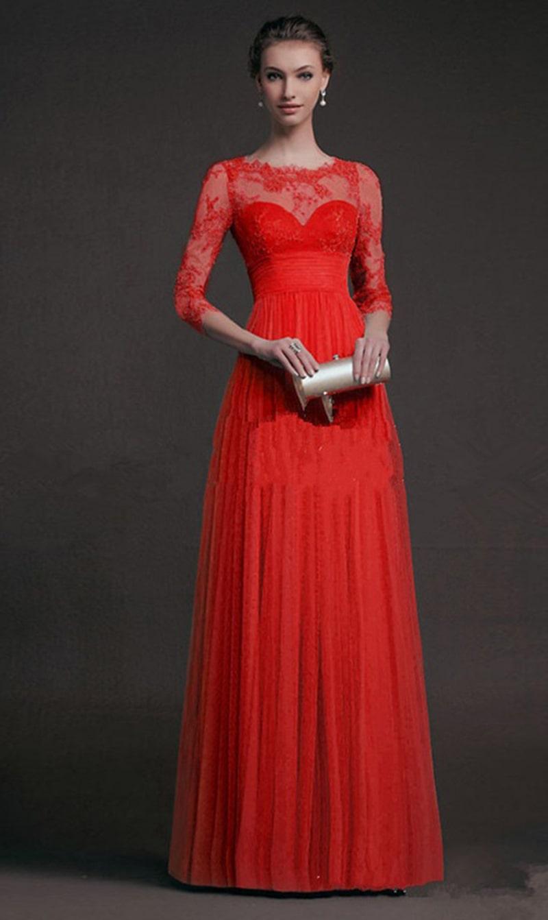 Lace Evening Long Dress High Waist Womens Sleeve Slim Maxi Gown Princess Party Floor Length Elegant Dresses