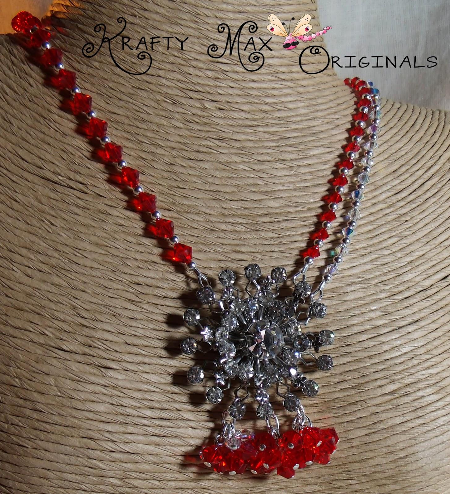 www.artfire.com/ext/shop/product_view/KraftyMax/4583522/Red_and_Swarovski_Crystal_StarBURST_Necklace_Set/Jewelry/Sets/Crystal