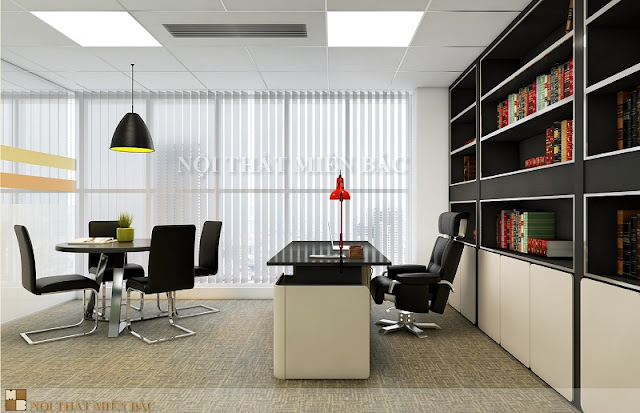 Những chiếc bàn chân sắt mặt gỗ công nghiệp cao cấp kết hợp với ghế phòng họp chân quỳ sẽ mang tới không gian thiết kế nội thất phòng họp vô cùng ấn tượng