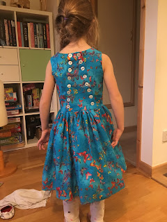 butterfly party dress back view