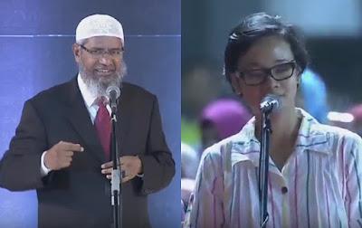 Inilah Wanita yang Paling Cepat Bersyahadat pada Acara Dr Zakir Naik di Bekasi