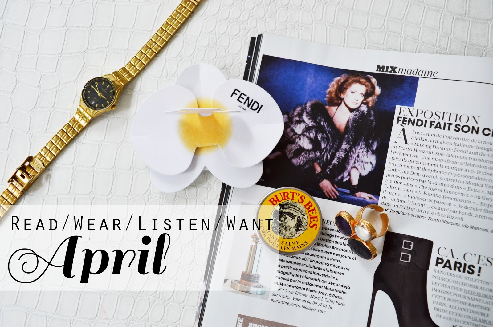 Read/Wear/Listen/Want: April