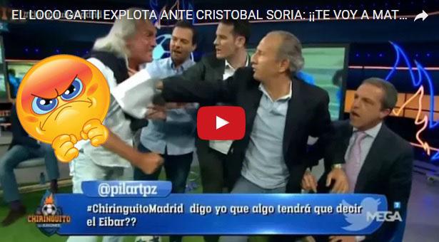 El Loco Gatti enloquece y le quiere pegar a Cristóbal Soria
