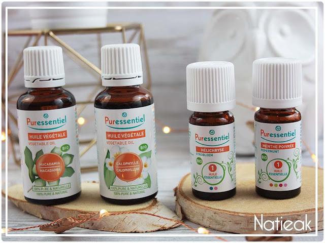 Huiles essentielles  Helicrysse et monthe poirée bio de Puressentiel