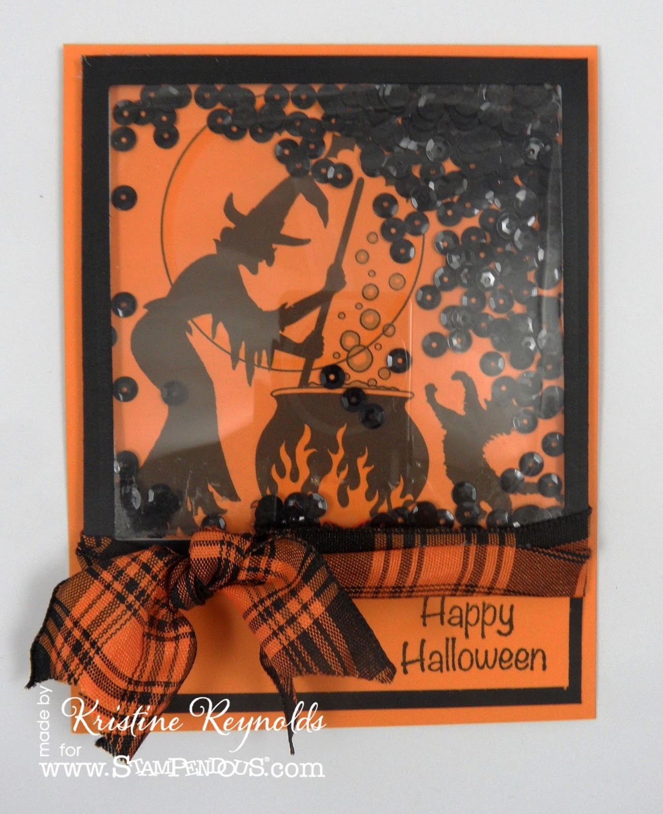 Stamping & Scrapping In California: Halloween Shaker