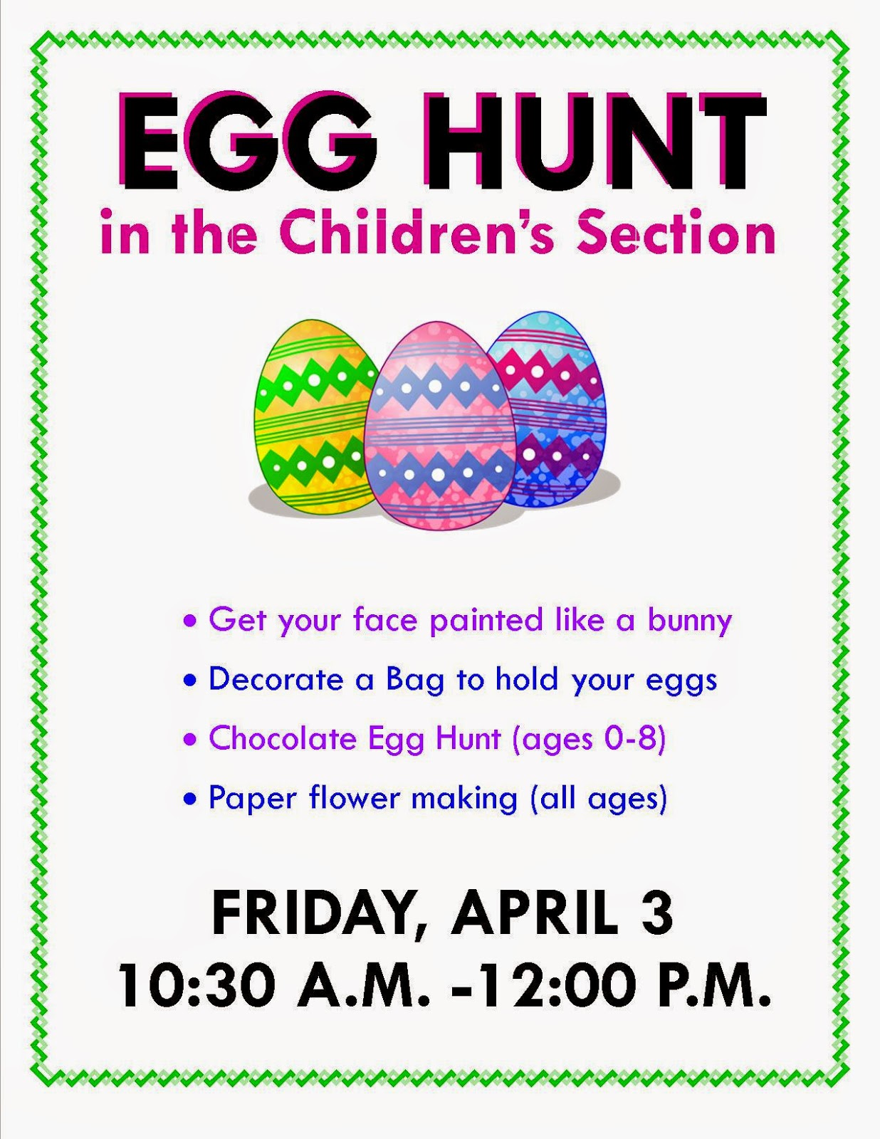 egg hunt at the Franklin Library