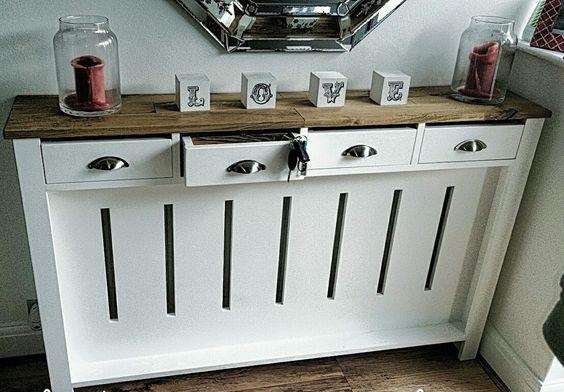 mobilier cu sertare pentru acoperirea caloriferului