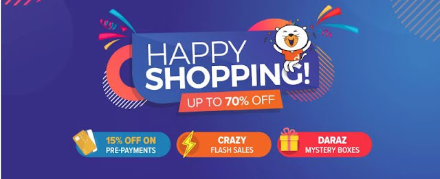 Flash Sales, Crazy Vouchers, happy Mega Delas on Daraz