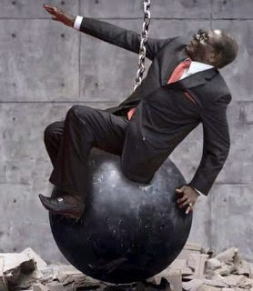 Robert Mugabe came in like Wrecking ball the Miley Cyrus style #MugabeFalls meme via geniushowto.blogspot.com internet memes