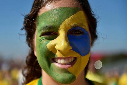 Torcida brasileira na Copa do Mundo de 2014 (Foto: Léo Barrilari)