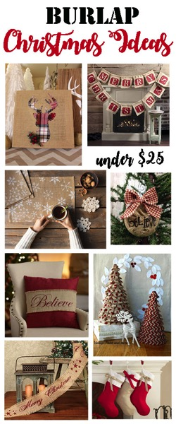 burlap christmas decor for under 25 the kim six fix - Burlap Christmas Decorations