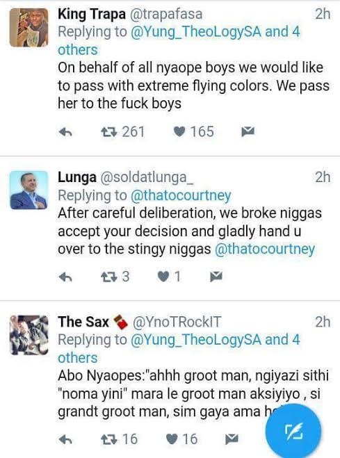 w - Savage! South African lady warns broke niggas not to like her photo and Twitter users dragged her