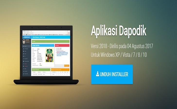 Download Installer Aplikasi Dapodik Versi 2018, Operator Harus Tau Daftar Fitur yang Ada..