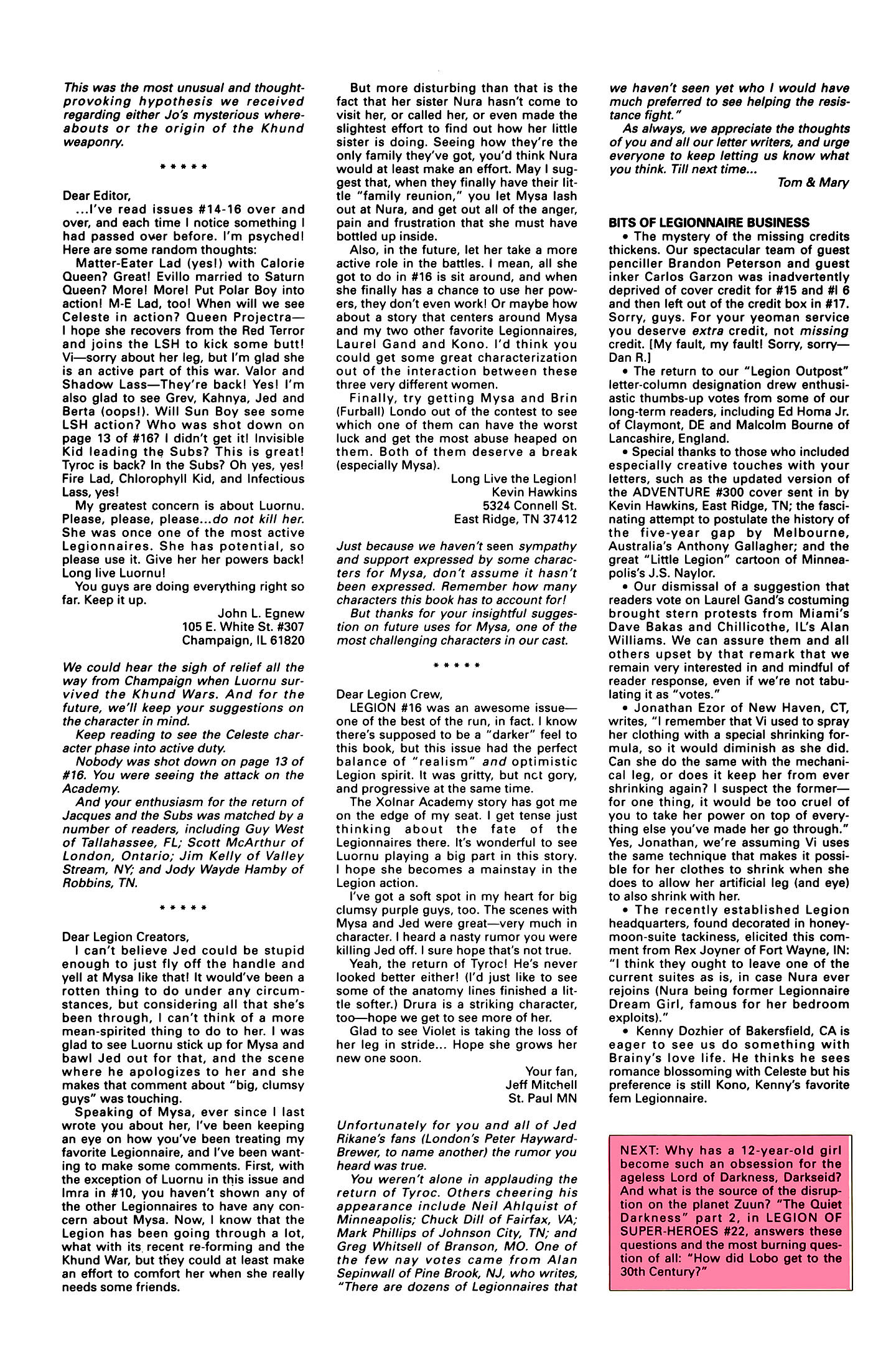 Legion of Super-Heroes (1989) 21 Page 27