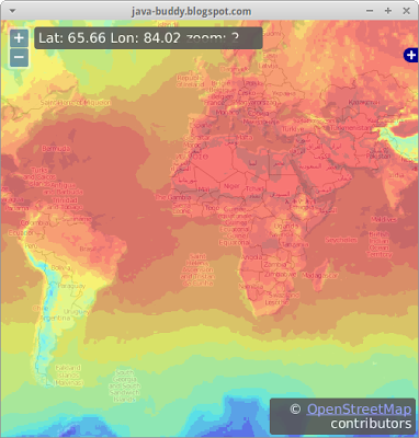 Another example to embed Open Weather Map in JavaFX WebView