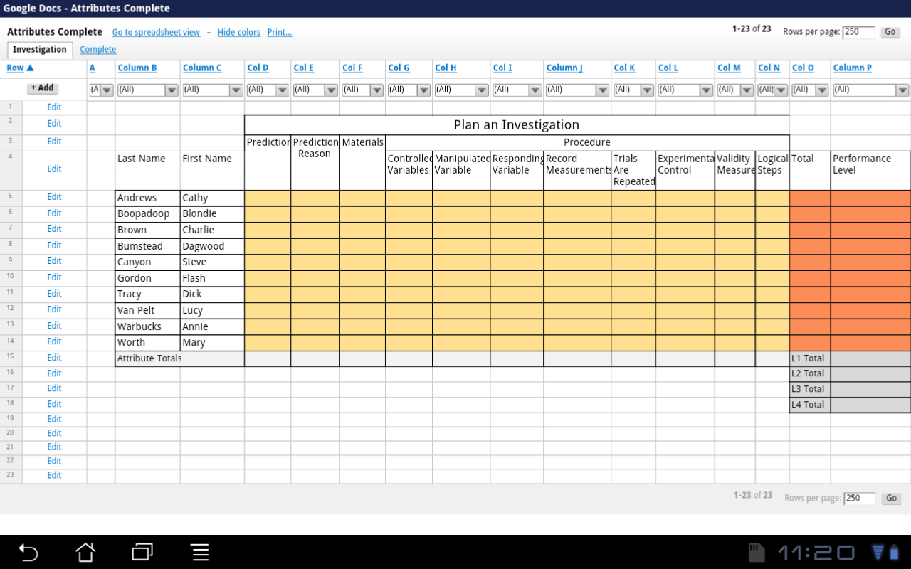 Excel For Educators Excel Apps For Android Docs