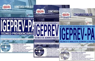 apostila para Concurso Público do IGEPREV-PA 2018