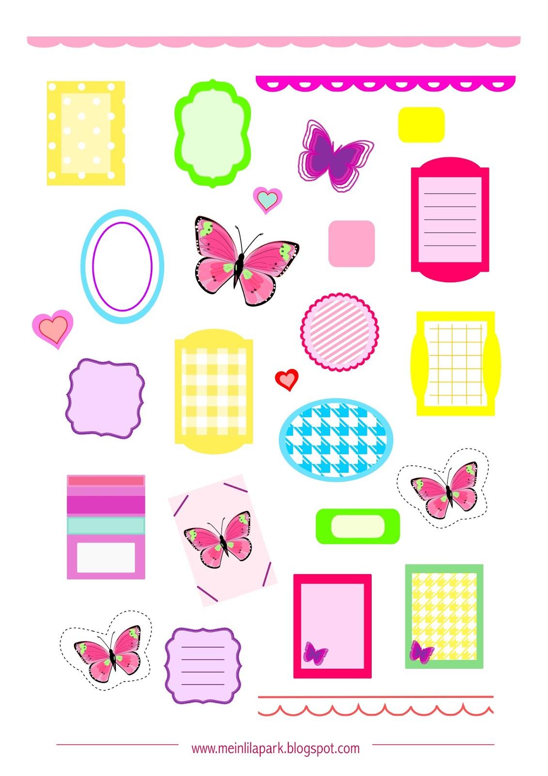 Free printable planner stickers butterfly - ausdruckbare ...