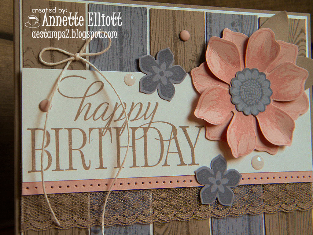The Sentiment Is From Hostess Set Happy Birthday Everyone And Flowers Are Beautiful Bunch Love These Colors Together