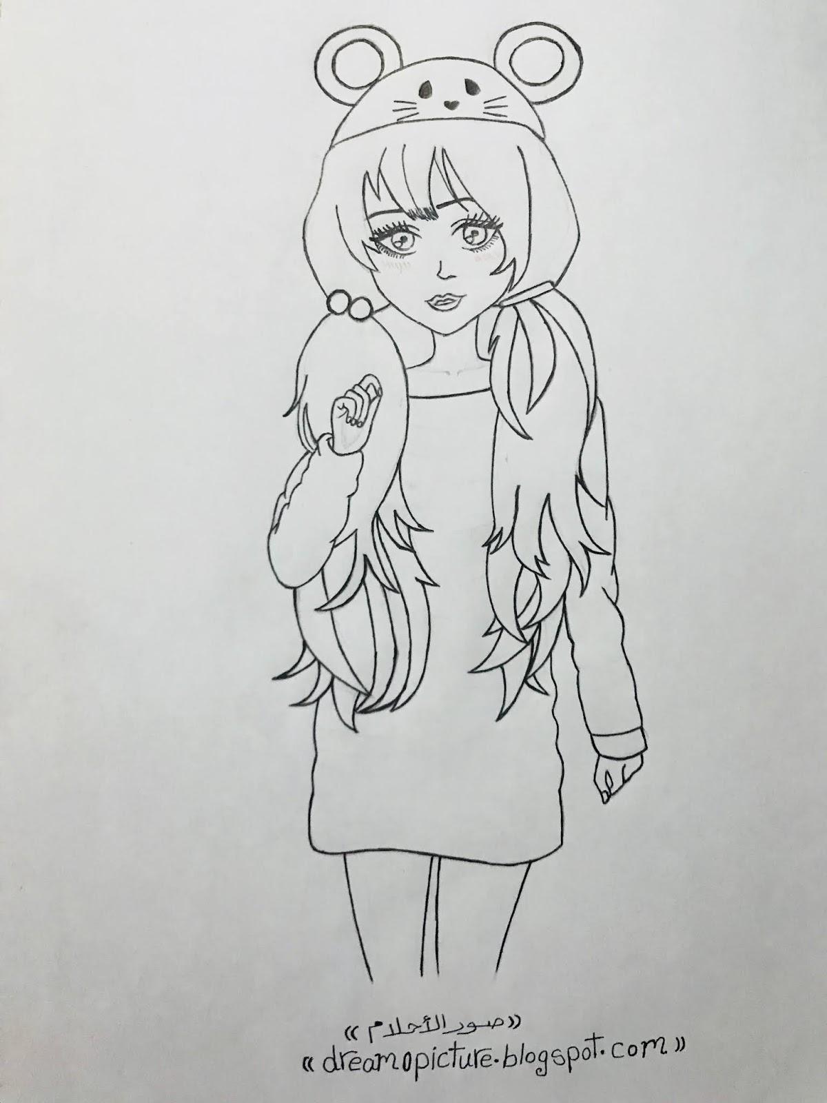 كيفية رسم رسومات بنات كيوت بالرصاص سهله Images Gallery