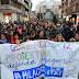 Cientos de manifestantes exigen la continuidad del colegio La Milagrosa y defensa del Rontegi