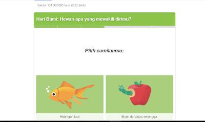 "Muncul kembali pertanyaan ketiga ""Pilih camilanmu:"" saya jawab lagi ""Buah dan/ serangga"" namun saya suka buahnya saja, serangganya tidak."